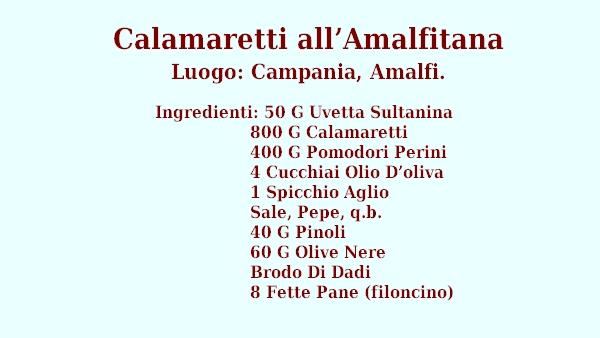 Calamaretti all'Amalfitana