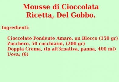 Mousse di Cioccolata